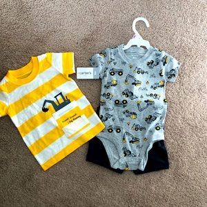 NWT construction site i dig mommy outfit set 9M